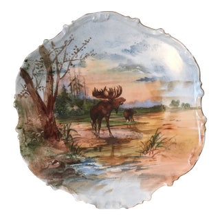 Antique Limoges Flambeau Hand Painted Plate For Sale