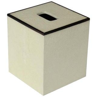 Ivory Shagreen Tissue Box For Sale
