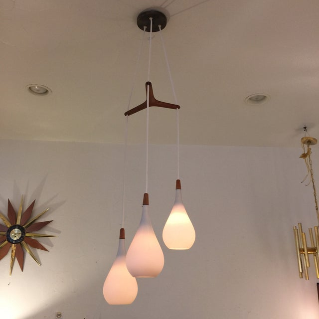 Laurel Walnut 3 Pendant Light Fixture - Image 3 of 11