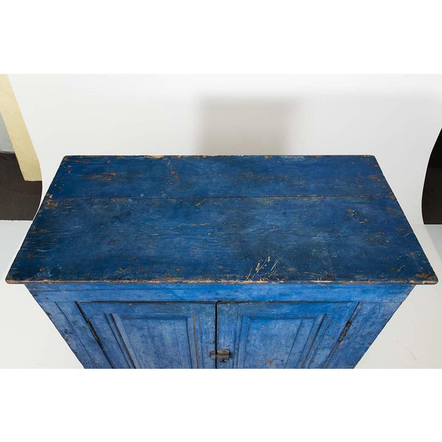 Indigo Painted Buffet For Sale - Image 4 of 13