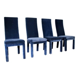 Mid-Century Modern Milo Baughman Style Parsons Dining Chairs