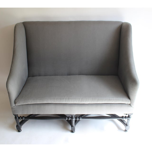 French 19th Century French Ebonized Settee For Sale - Image 3 of 8