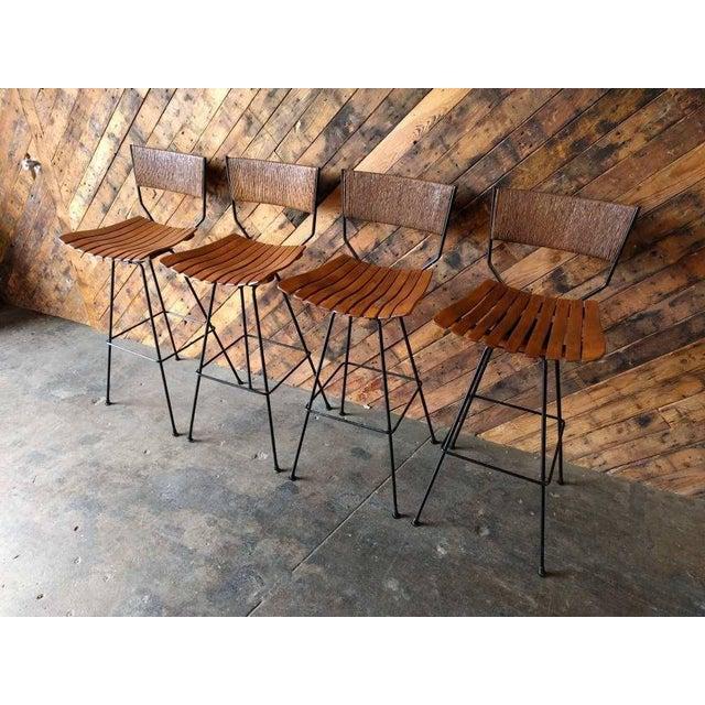 Refinished Arthur Umanoff Barstools- Set of 4 - Image 7 of 9