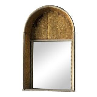 19th Century Spanish Gilded Niche Mirror For Sale