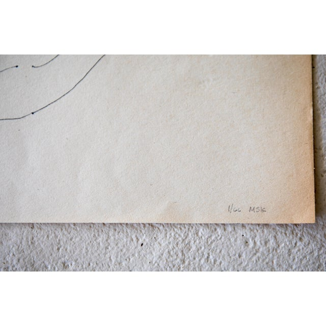 Original Large Scale Mid-Century Triptych of Nudes - Set of 3 - Image 8 of 9