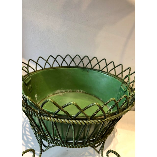 French French Wrought Iron Footed Planter For Sale - Image 3 of 7