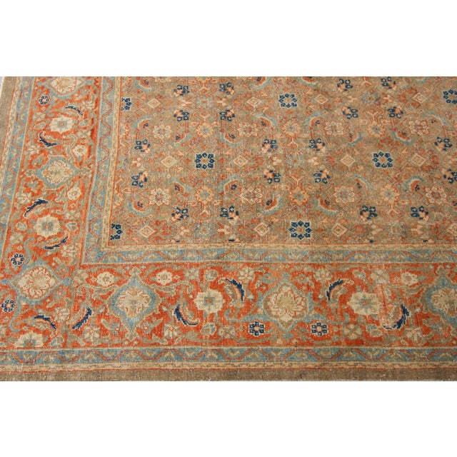 "Textile Vintage Persian Rug, 9'5"" X 12'7"" For Sale - Image 7 of 12"