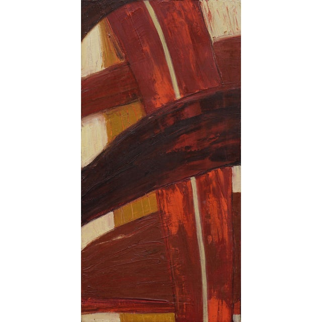 "Laurie MacMillan Laurie MacMillan ""Freeway"" Abstract Painting For Sale - Image 4 of 4"