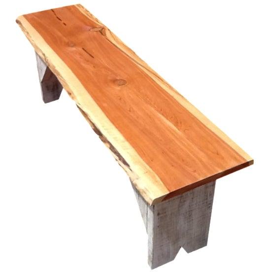 Rustic Red Cedar Bench - Image 1 of 5
