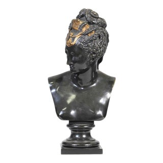 French 19th Century Gilt Bronze Signed Neoclassical Grand Tour Bust For Sale