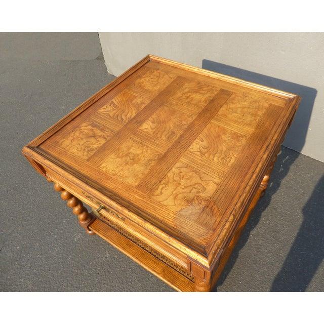 Brown Baker Furniture Barley Twist Cane Shelf End Table ~ Side Table For Sale - Image 8 of 13