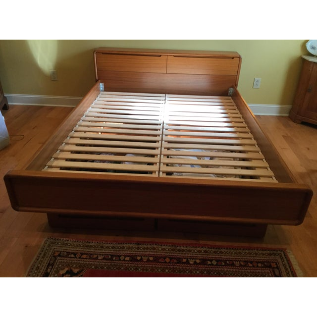 Teak Queen Bed Frame - Image 2 of 11