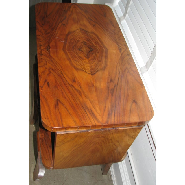French Art Deco Burl Wood Cabinet / Liquor Bar - Image 9 of 11