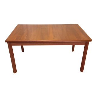1960s Danish Modern Brdr Furbo Teak Dining Table For Sale