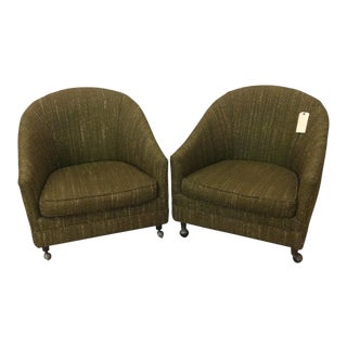 Richardson Nemschoff Horshoe Shaped Chairs - a Pair For Sale