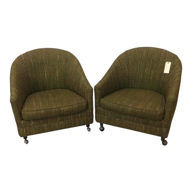 Richardson Nemschoff Horshoe Shaped Chairs - a Pair For Sale