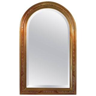 1980s Decorative Beveled Glass Mirror For Sale
