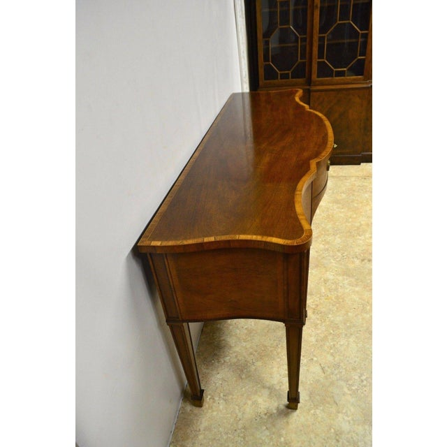 Baker Furniture Company Baker Furniture Stately Homes Collection Mahogany Inlaid Sideboard For Sale - Image 4 of 11