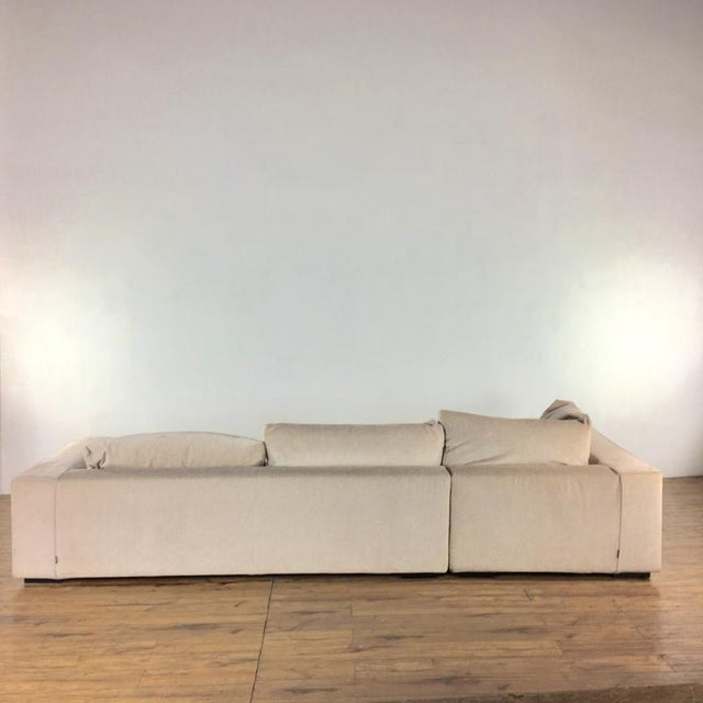 2010s Minotti Mid Century Modern Style Italian Upholstered Sectional Sofa For Sale - Image 5 of 13