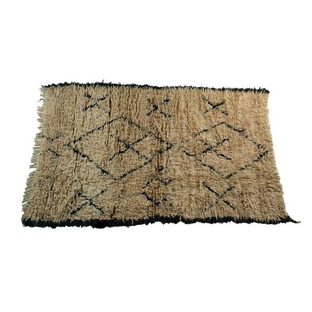 "Moroccan Vintage Beni Ouarain Rug - 4'3""x6'8"" - Image 1 of 4"