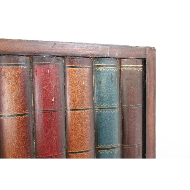 Maitland - Smith Vintage Trompe l'Oeil Folding Screen- Library Bas Relief Room Divider For Sale - Image 4 of 9