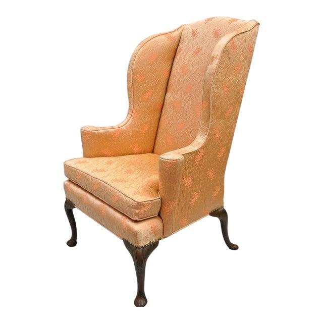 Antique Queen Anne Wingback Armchair - Antique Queen Anne Wingback Armchair Chairish