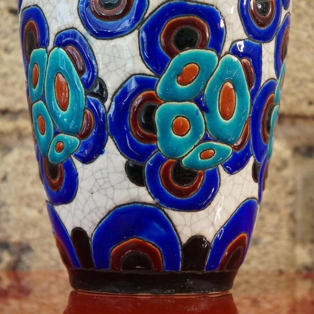Art Deco 1920s Charles Catteau Vase For Sale - Image 3 of 8
