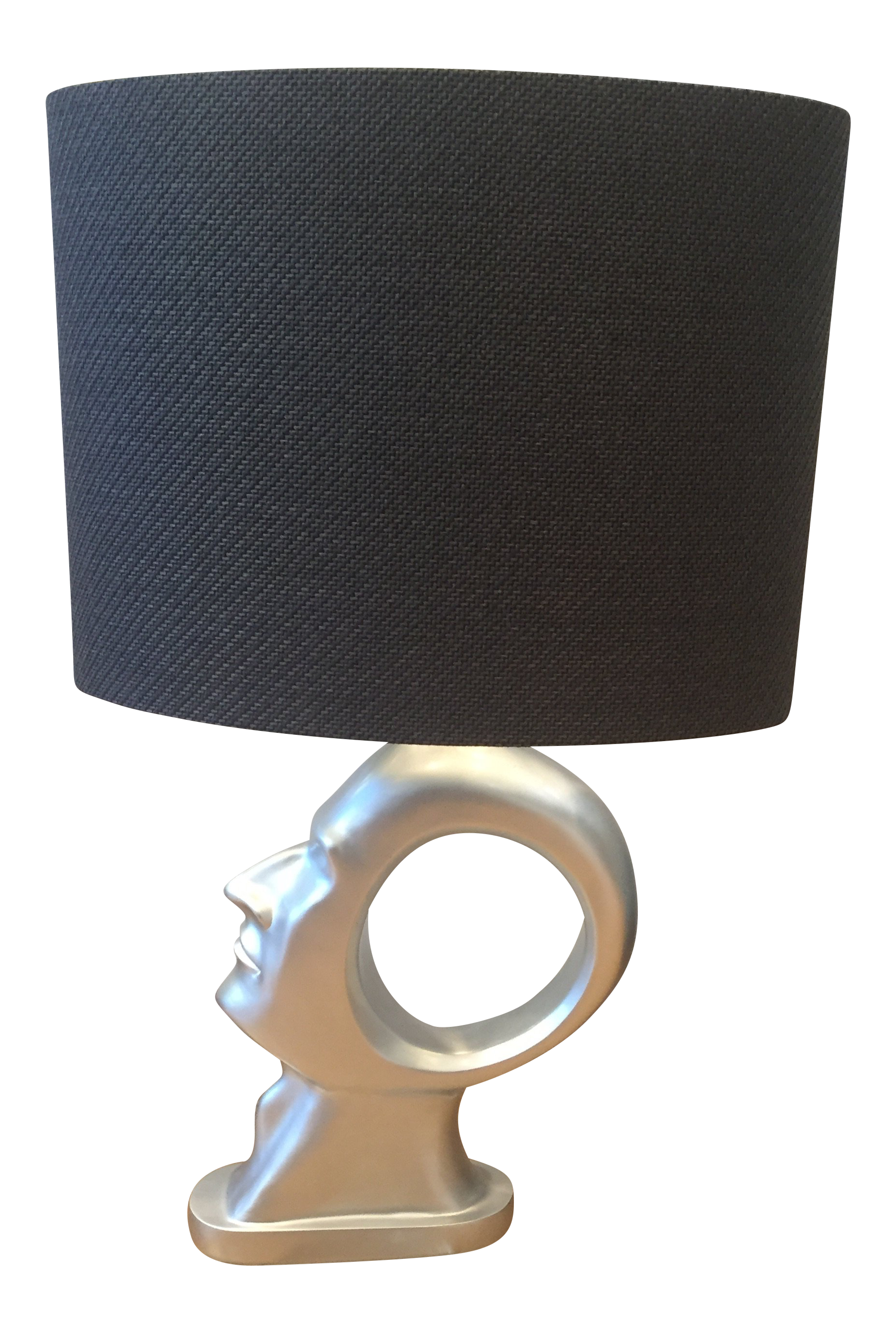 Modern Buenos Silver Finish Resin On Crystal Base Table Lamp