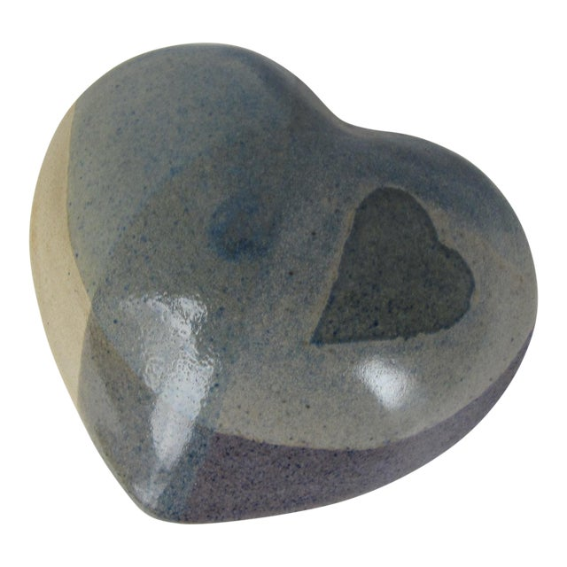 Handmade Pottery Heart Rattle For Sale