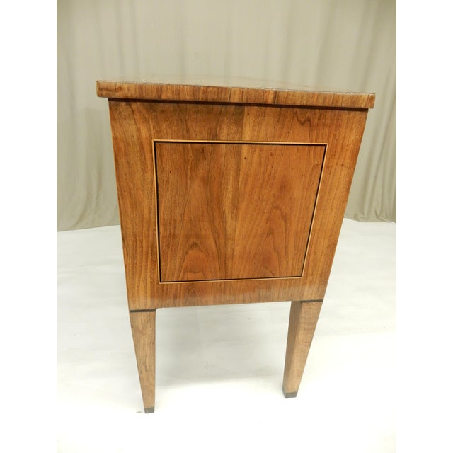 Late 19th C Italian Walnut Louis XVI Commode For Sale - Image 4 of 7
