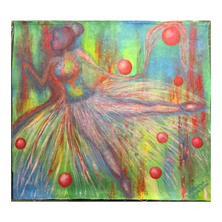 "Suga Lane ""Midsummer Ballerina"" Dancer Acrylic Painting"