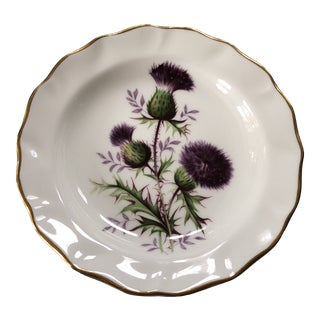 1950s Bone China Thistle Trinket Dish Tray For Sale