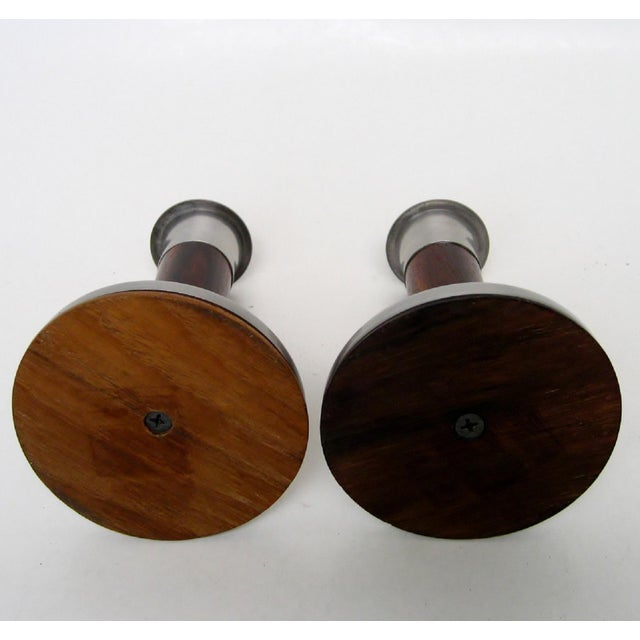 Late 20th Century Scandinavian Candlesticks, a Pair For Sale - Image 5 of 6