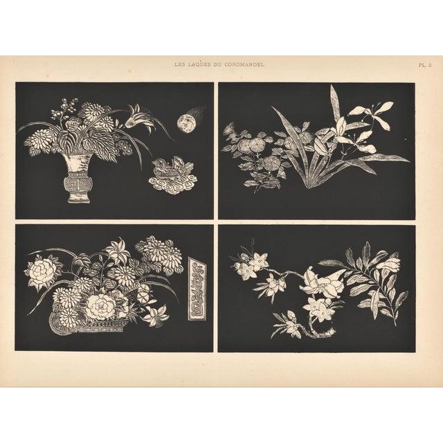 Art Deco Asian Botanical Design Print - Image 1 of 4