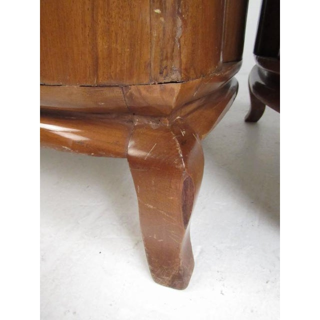 Wood Vintage Barrel Back Italian Side Chairs - A Pair For Sale - Image 7 of 11