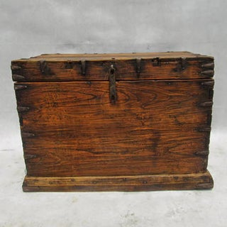 Antique Mongolian Wood & Iron Trunk Preview