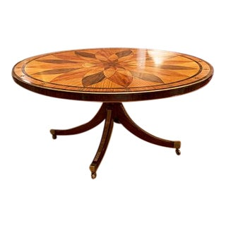 1960s English Mahogany & Satinwood Centre Tables For Sale
