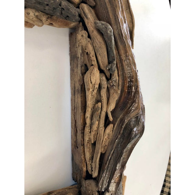 Boho Chic Handcrafted Reclaimed Botany Bay Driftwood Frame For Sale - Image 3 of 6