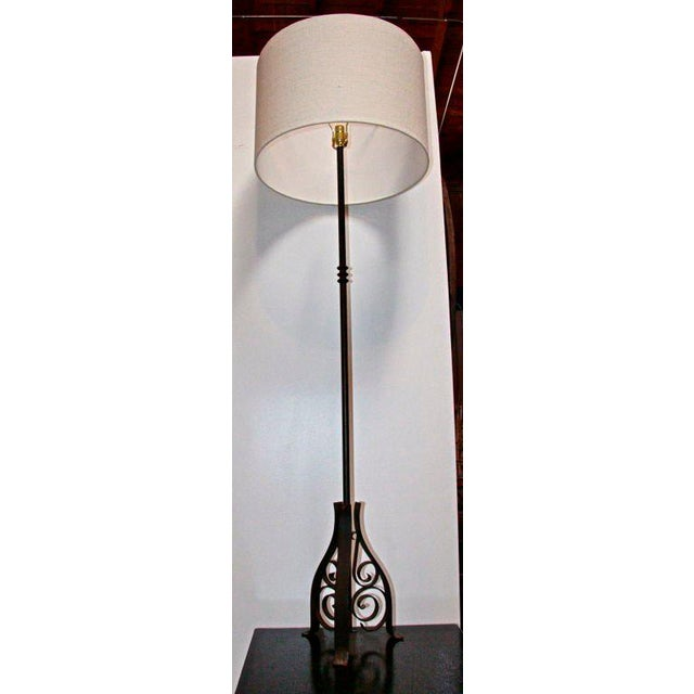 French, iron, floor lamp. Pretty clear what this is and pretty nice too.