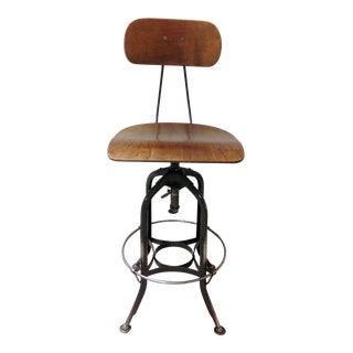 Vintage Mid Century Adjustable Toledo Bar Stool For Sale