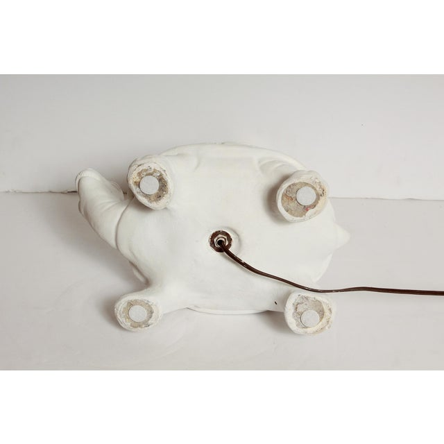 Modern White Plaster Turtle Table Lamp For Sale - Image 9 of 11