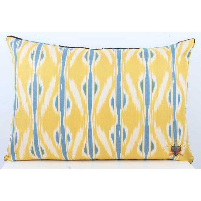 Silk Velvet/Silk Atlas Double Sided Down Feather Lumbar Pillow Reverse is a beautiful coordinating Silk Atlas fabric...
