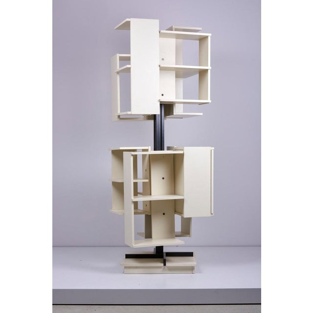 Rotating Wooden Bookshelf by Claudio Salocchi for Sormani, Italy For Sale - Image 6 of 10