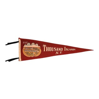 Vintage Thousand Islands, Ny Pennant For Sale