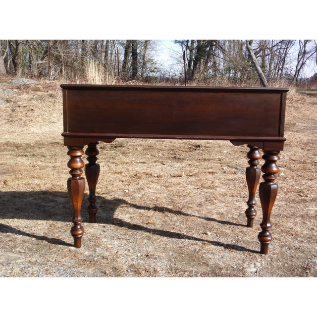 Brown Antique Walnut Empire Flip Top Writing Spinet Desk Sofa Table For Sale - Image 8 of 12