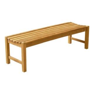 "Niagara Teak Classic Bench Stool - 71"" For Sale"