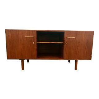 Mid Century Jens Risom Walnut Credenza/Media Console-1960's For Sale
