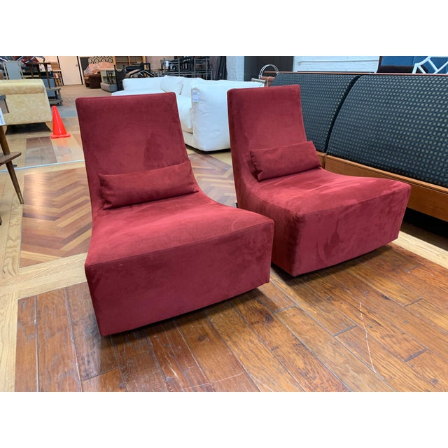 Design Plus Galleries presents a Pair of Neo Fireside Rocking Chairs Ligne Roset. Designed by Alban-Sebastien Gilles, is a...