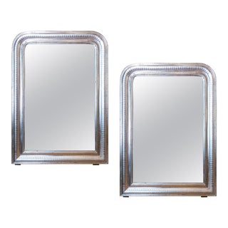 Antique French Silver Gilt Louis Philippe Mirrors - a Pair For Sale