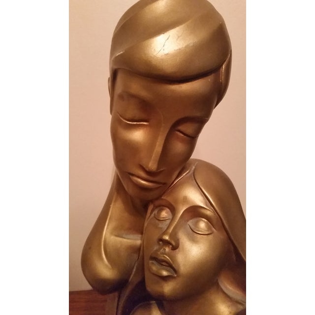 1968 Modern Sculpture of Embraced Couple - Image 4 of 5